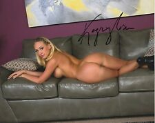 Porn Star Kagney Linn Karter  signed  glossy 8x10  Photo model autograph PROOF
