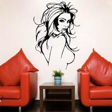 LADY Donna Capelli Fashion NUDO Bellezza Muro Sticker Murali Decorazione Casa UK