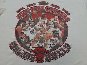 VTG 90s Chicago Bulls 1997 NBA Champions Champs T Shirt Large Michael Jordan USA