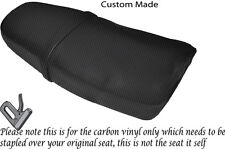 CARBON FIBRE VINYL CUSTOM FITS YAMAHA SRX 600 DUAL SEAT COVER ONLY