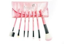 London Pride 7pcs Pink Set Brush - Make-up brushes+Silicone Make-up Puff Clear