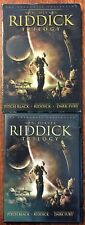 Riddick Trilogy Dvd Vin Diesel ~ Pitch Black, Chronicles of Riddick, Dark Fury