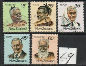 L9 NZ 1980 DEFINITIVES ; COMPLETE SET/5 FINE-USED