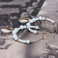 Womens Delicate Beach Wind Earrings Large Circle Shell Shell Jewellery Gift CB