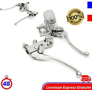 Moto Hydraulique Frein Maître Cylindre Levier d'embrayage Chrome Brake Motorcycl