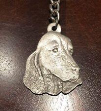 Rare Vintage English Cocker Spaniel Dog Rawcliffe  Keychain Key Chain Collar