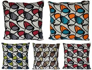Geometric Modern Design Suede Outlined Jute Finish 16x16 Cushion Cover Sofa Bed