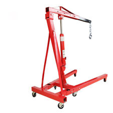 1 Ton Jack Hydraulic Folding Engine Crane Stand Hoist Lifting Jack & Wheels Set