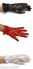 """PAIR OF CHILD'S LACE GLOVES, WEDDING, FLOWER GIRL, COMMUNION, DANCE, PAGEANT, 7"""""""