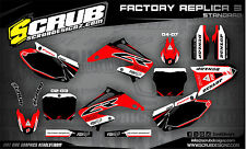 SCRUB Honda graphics decals CR 125 - 250 2002 - 2007 Stickers Motocross '02-'07