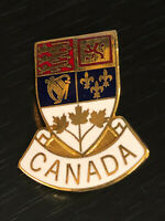 Vintage Collectible Canada Crest Colorful Metal Pinback Lapel Pin Hat Pin