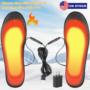 Heated Insoles USB Electric Heated Shoes Pad Winter Foot Insole Cuttable Unisex