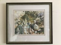 Original framed and signed watercolour painting