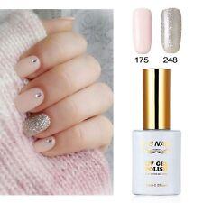 RS Nail 2 PCS 175 248 Silver Pink Gel Polish UV LED Varnish Soak Off 0.5fl.oze