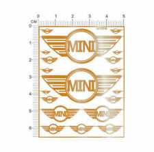 chrome(metal) decals BMW MINI for different scales model kits (Golden) - 3994