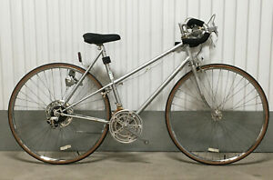 FRAMESET Schwinn Letour 55 cm Road Bike Mixte Silver 10 speed Taller ladies