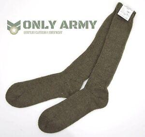 New - Belgian Army 100% Wool Socks Long Sock Olive Green Thick Premium UK 13-14