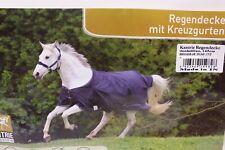 Kantrie Regendecke mit Kreuzgurten dunkelblau Gr. 145cm wasserdicht NEU