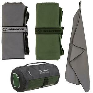 Highlander Microfibre Soft Towel Travelling Camping Hiking Quick-Drying 3 Sizes