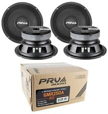 "4 x PRV Audio Mid Range 6"" Pro Loud Speaker 8 Ohm 1000 Watts"