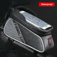 Waterproof Bicycle Bag Frame Front Phone Holder Case MTB Bike Top Tube Pouch