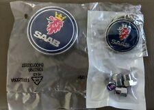 SAAB badge front bonnet 50mm 93 9-3 900 9000 Blue 79-02 + Keychain & Tyre Caps