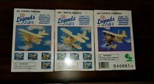 3 LEGENDS OF THE AIR MINIATURE WOODEN AIRCRAFT AIRPLANE MODELS  NEW