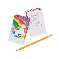 12 Rainbow Unicorn Spiral Notepads Birthday Party Mood Favors Incentives Prizes