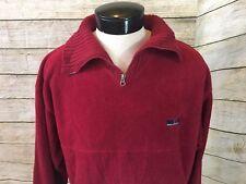 Vintage Britches Coat Jacket Fatigue Fleece 1/4 zip Mens M Red - L25