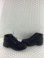 Timberland Premium 6 Inch Black Nubuck Waterproof Lace Up Chukka Boots Men's 9