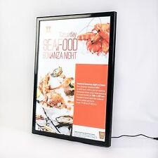 A2 Snap Frame Illuminated poster display case black LED menu box wholesale