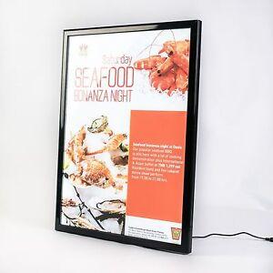 A2 Snap Frame Illuminated poster display case black LED menu box wholesale