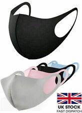3 x Pack Washable Face Covering BLUE or BLACK Anti Dusk / Smoke Safety UK Stock