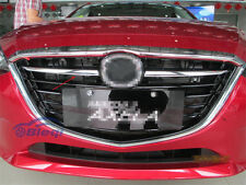 2PCS Car Chrome Front Grill Grille Cover Trim Fits For 2014 2015 2016 Mazda 3