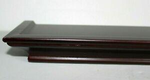 "NEW Rare Woods Shelf - Floating Wall Shelf 20"" x 4"" Dark Wood Classic Design"