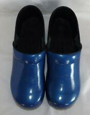 SANITA Leather Clogs Size 40 -  9 - 9.5 Blue - Comfortable Work Shoes - Perfect!