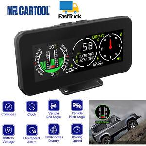 Auto GPS Digital Neigungsmesser Kompass Offroad Tachometer Neigungsanzeiger