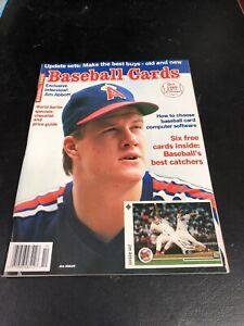 October 1989 Baseball Cards Magazine 6 Card Insert Fisk Alomar Jr./Abbott Cover