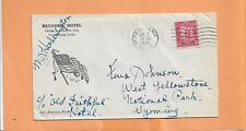 KENNEBEC HOTEL 1930 PASADENA CA SIGNED  VINTAGE ADVERTISING  COVER >