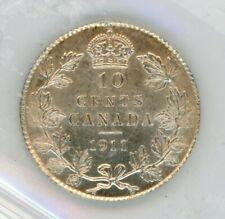 1911 Canada Ten Cents - ICCS AU-55 Cert#CY454