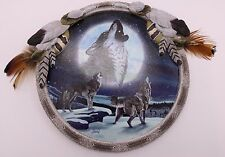 Agnew Bradford 2011 LE Wolves Resin PROTECTOR OF THE PACK Glow in Dark Plaque