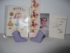 "Plastic Boots Shoes For 12"" Blythe Doll - Bonus Miniature Blythe Paper Doll"