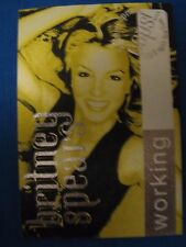 Britney Spears OOPS! I did it Again WORKING Backstage pass YELLOW Unused