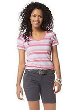 Gestreifte Damenblusen,-Tops & -Shirts mit Rundhals und Baumwolle für Freizeit