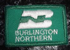 Vintage Burlington Northern Label Embroidered Fabric Patch In Green/White ColorN