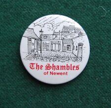 The Shambles at Newent Pin Badge - Retro Souvenir - Gloucestershire, UK