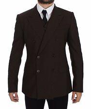 NWT DOLCE & GABBANA Brown Slim Fit Wool Stretch Blazer Vest IT48/ US38/ M