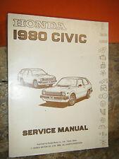 1980 HONDA CIVIC ORIGINAL FACTORY SERVICE MANUAL SHOP REPAIR 1300 1500 2 4 DOOR