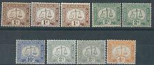 J205) Hong Kong. 1923/63. MMH.  SG.D1/1a/1ab/2/2a/5/6/6a/7a. Postage Dues cv£95