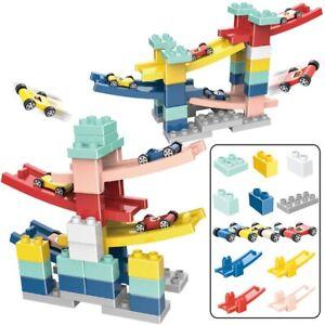 Electronic Mini Simulated Kits Toys Building Blocks Car Racing Slide Track
